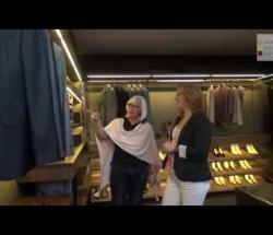 Embedded thumbnail for  Hulsta at ISaloni: Flex Open Closet With Walnut Interior