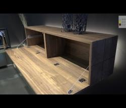 Embedded thumbnail for  Hulsta at iSaloni: Gentis Bedroom with Floating Walnut Sideboard