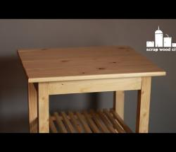 Embedded thumbnail for DIY kitchen rolling table